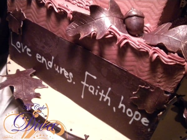 Chocolate Anniversary Cake with Scripture Verse