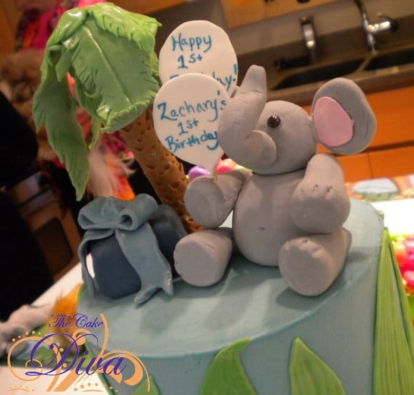 Jungle Cake with Elephant