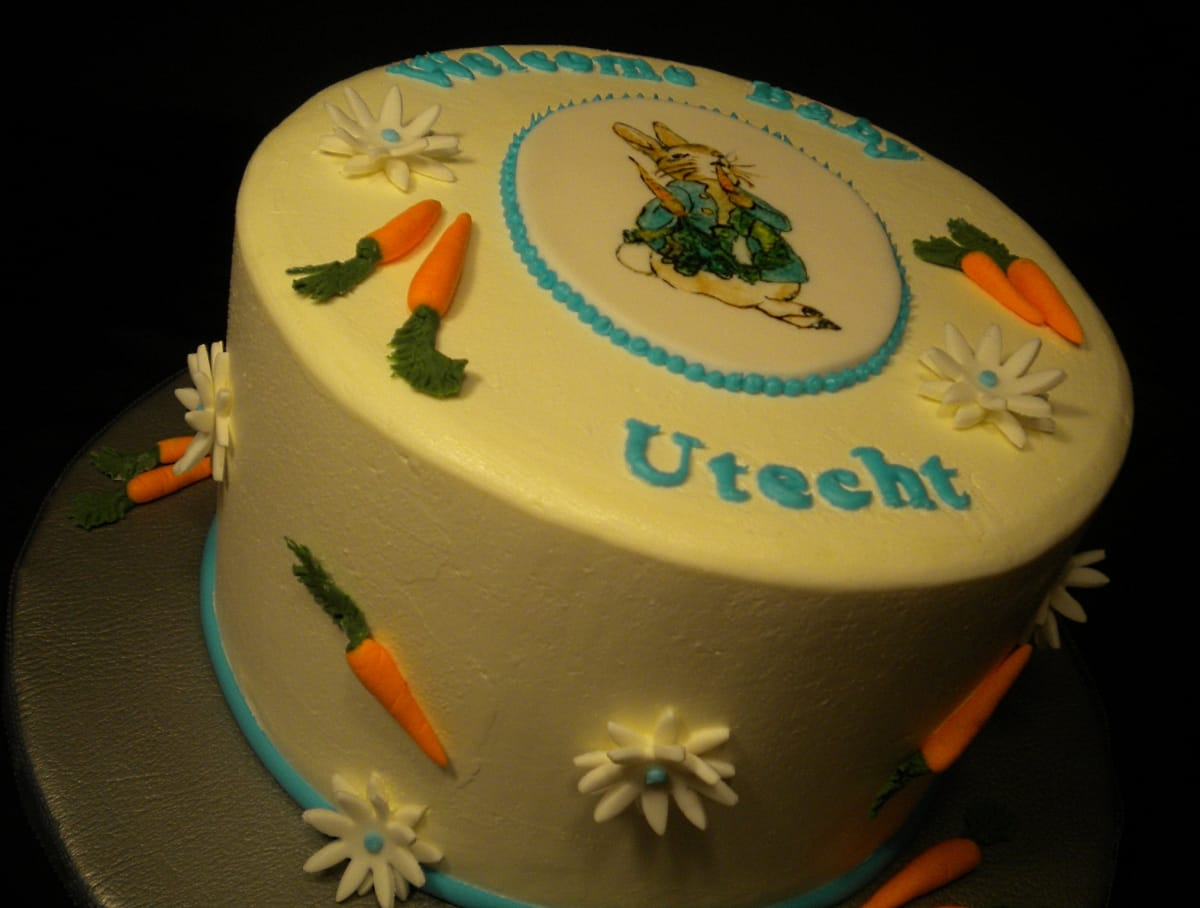 Peter Rabbit Themed Baby Shower Cake