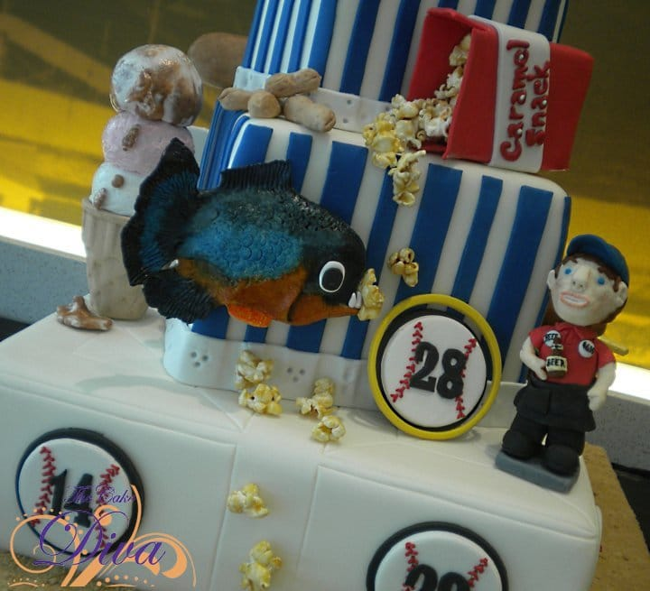 Food & Wine Czar of Cakes Baseball Themed cake