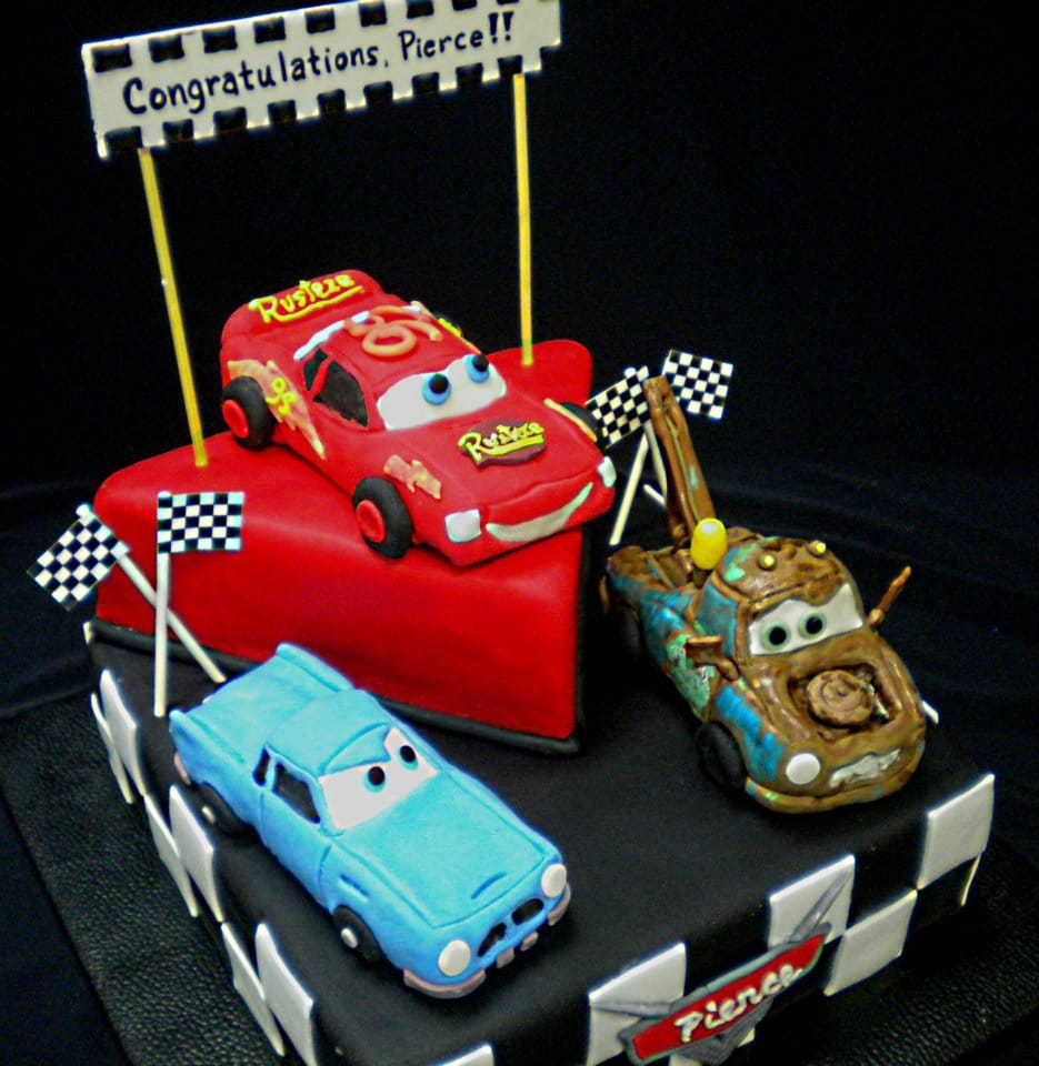 Cars Themed Cake donated thru Icing Smiles