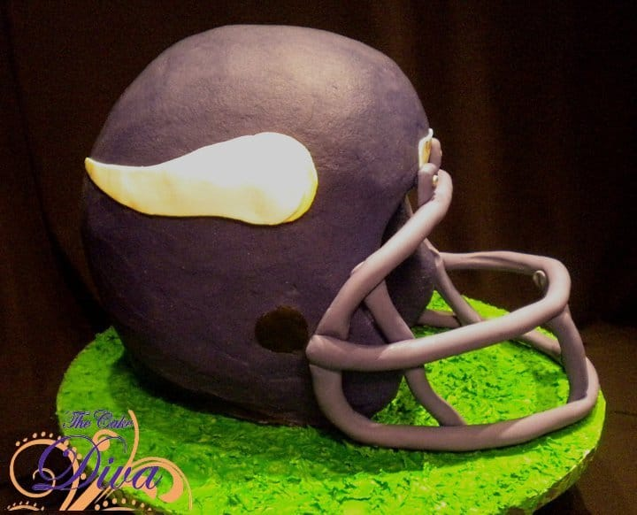 Minnesota Vikings Helmet Cake