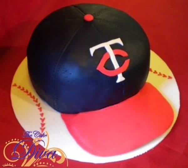Twins Baseball Cap Cake