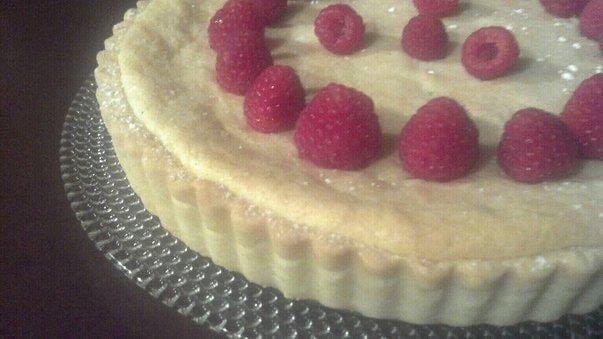 Raspberry Genoise Tart
