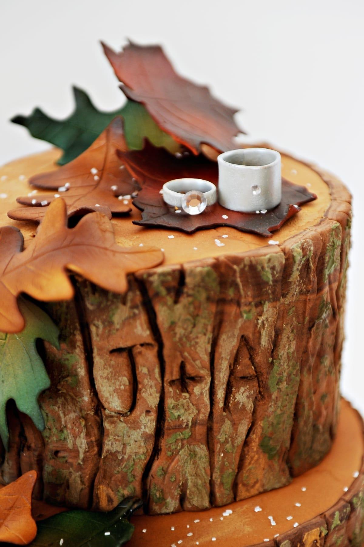 Fall Log Cake