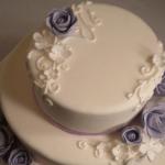 white purple custom wedding cake minneapolis saint paul minnesota