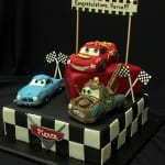 Cars cake from phone