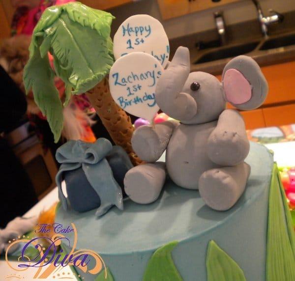Jungle Cake with Elephant