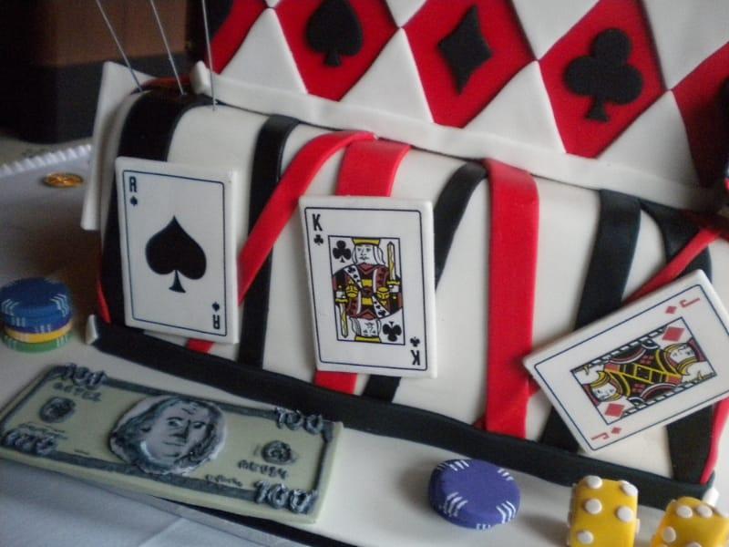 Casino Cake with Sugar Cards