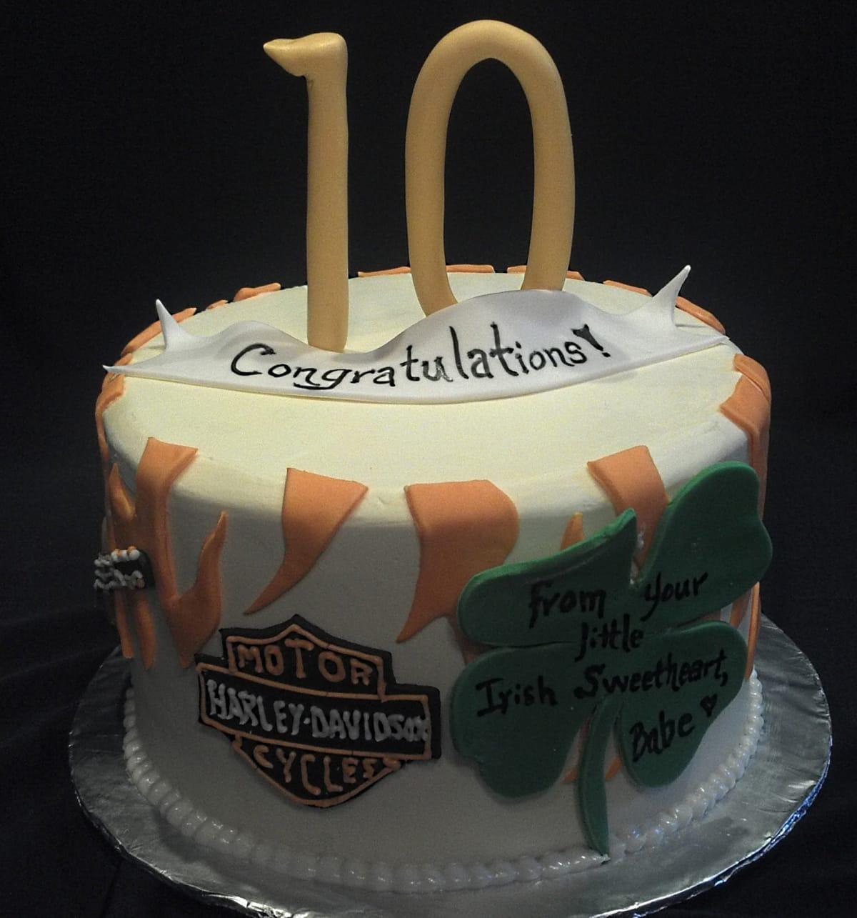 Harley Davidson Logo Birthday Cake