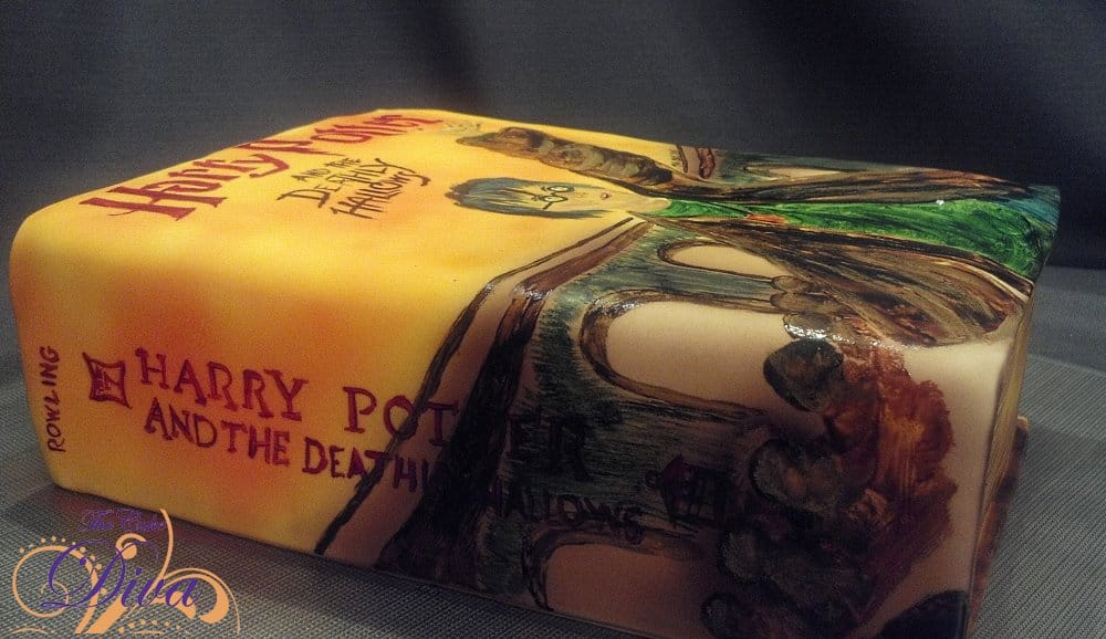 Harry Potter Hand-painted Book Cake