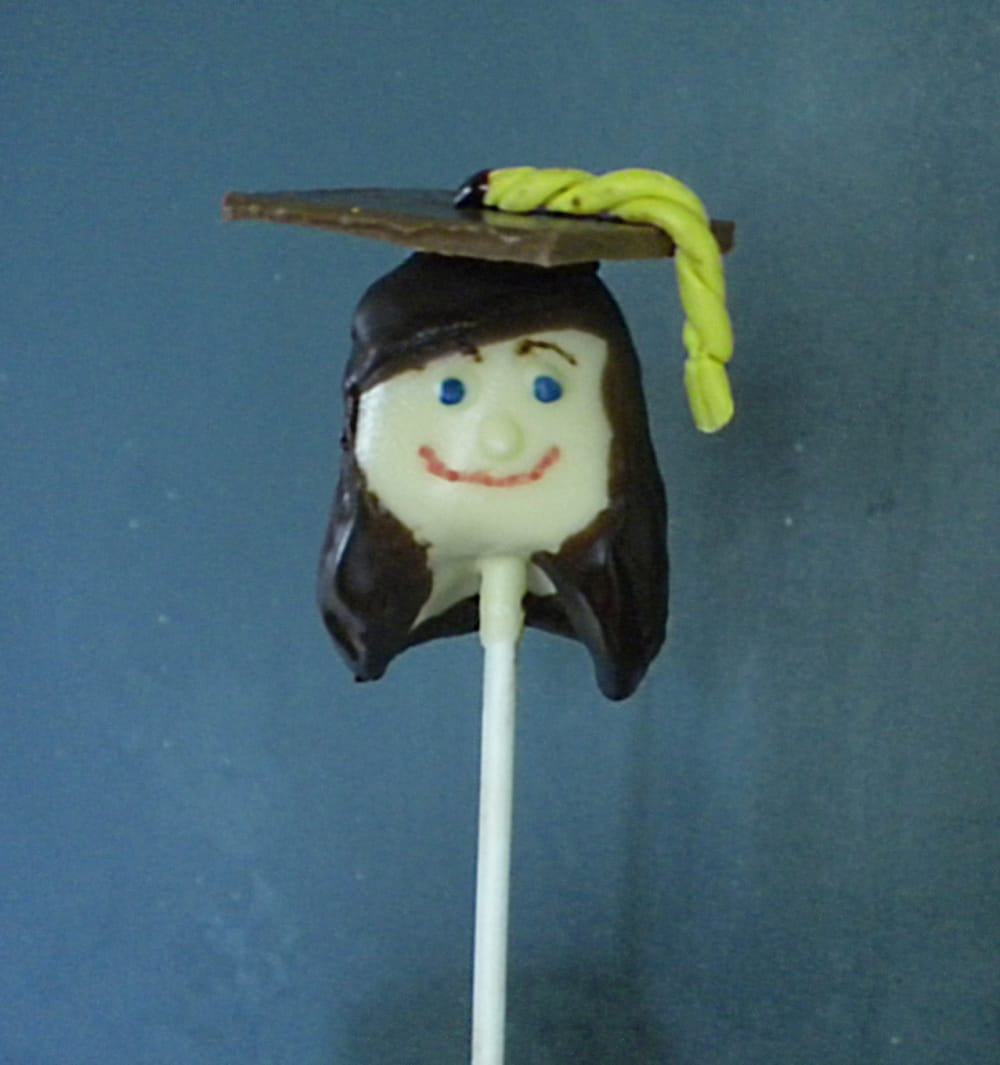 Graduation Girl Cake Pop