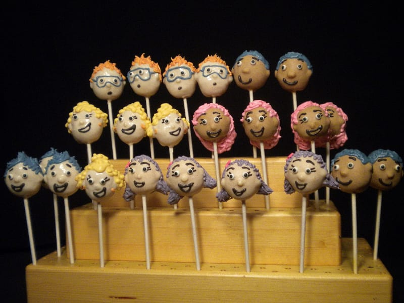 Bubble Guppy Cake Pops