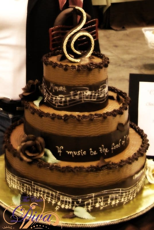 Chocolate Music Themed Cake
