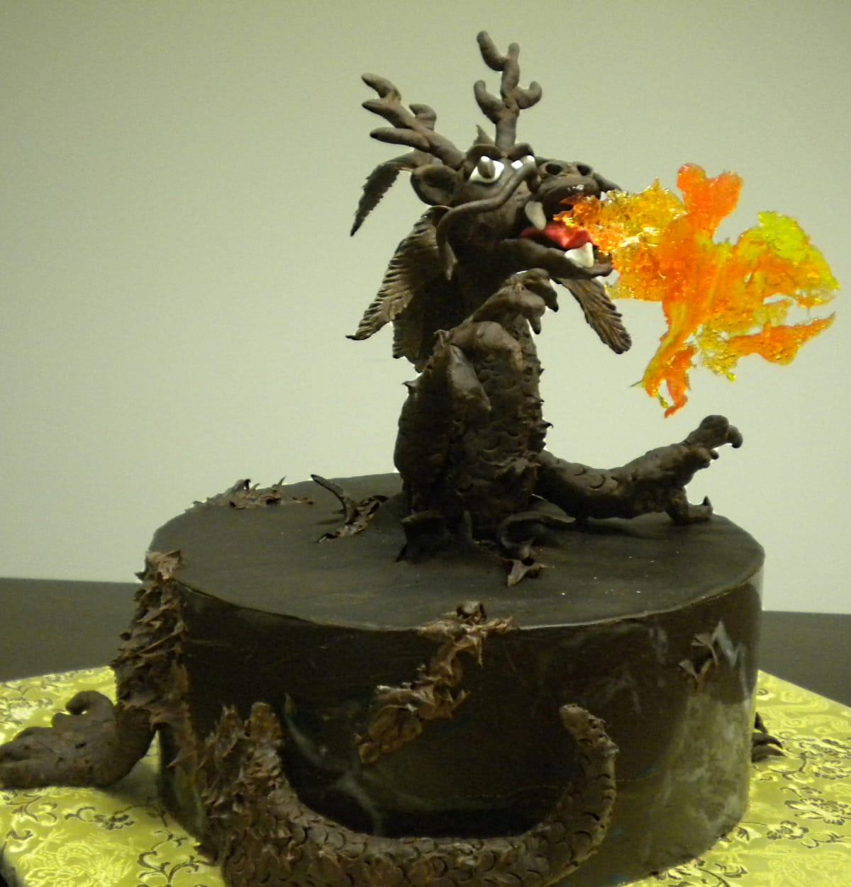 Chocolate Dragon Cake for Taste of Chocolate 2012