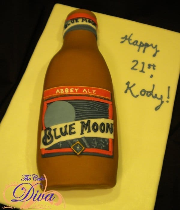 Blue Moon Beer Cake