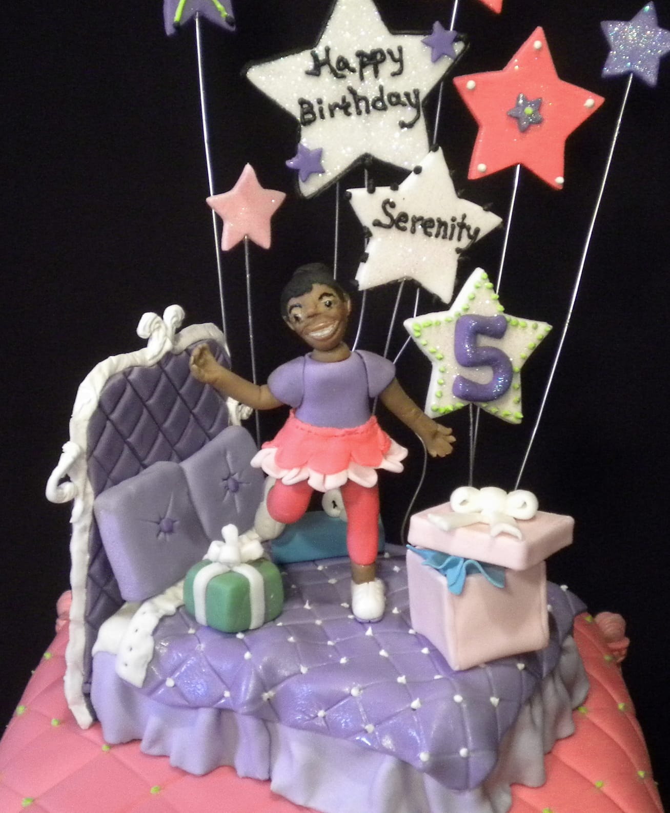 Slumber Party Cake with bed