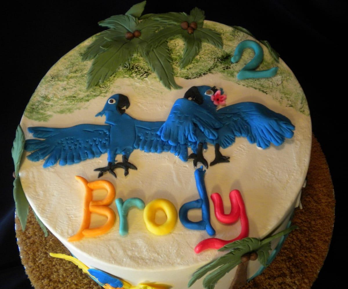 Rio Movie themed cake