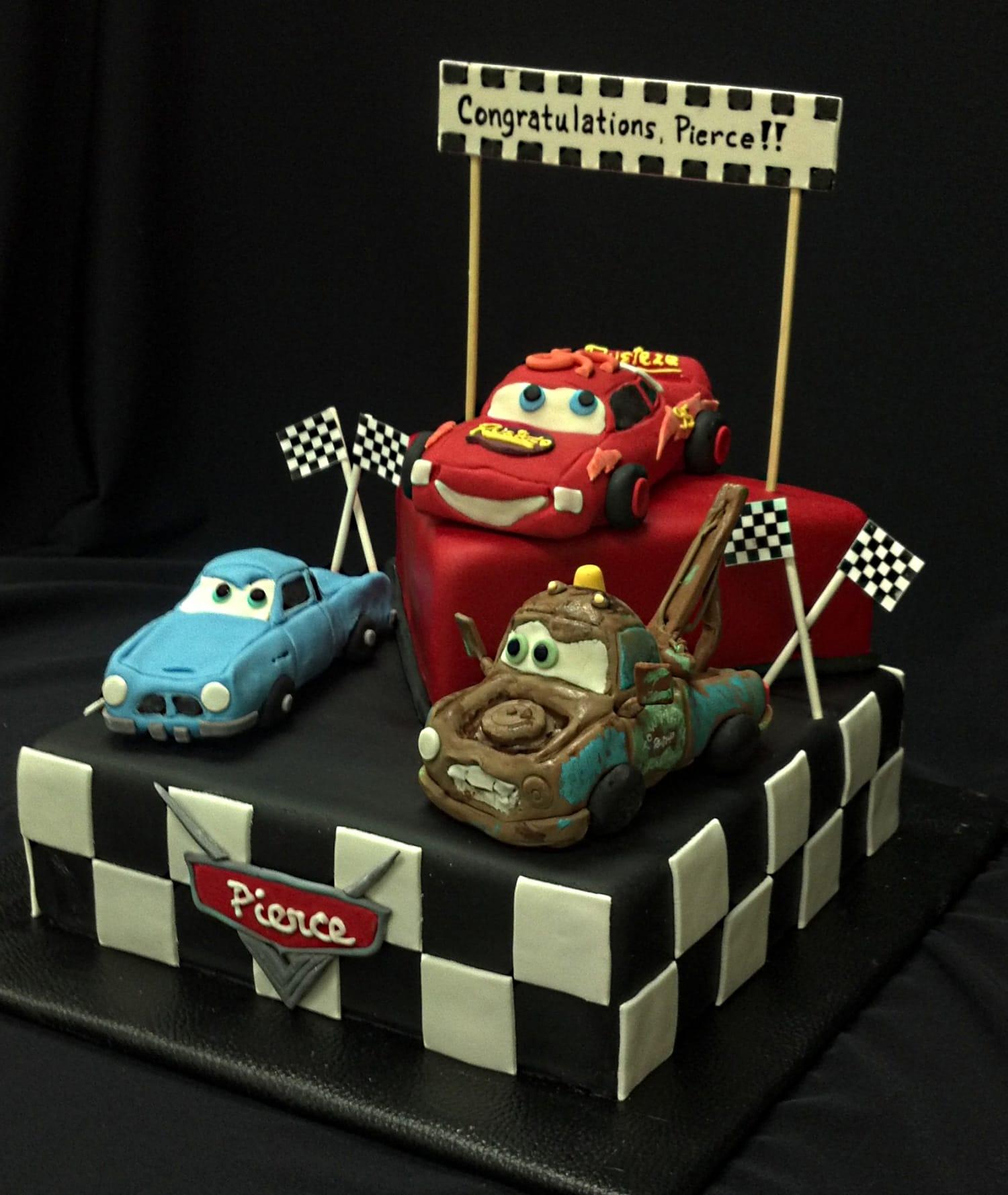Cars Movie Cake